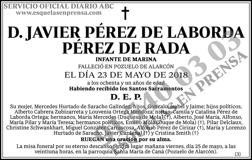 Javier Pérez de Laborda Pérez de Rada